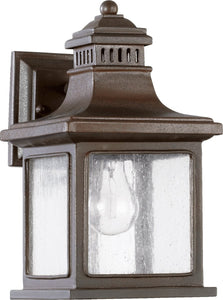 Quorum Magnolia 1-Light Outdoor Wall Lantern Oiled Bronze 704386