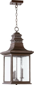 Quorum Magnolia 3-Light Outdoor Hanging Pendant Oiled Bronze 7045386