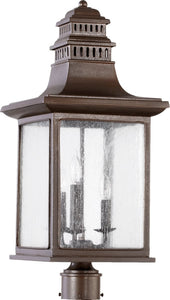 Quorum Magnolia 3-Light Outdoor Post Lantern Oiled Bronze 7046386