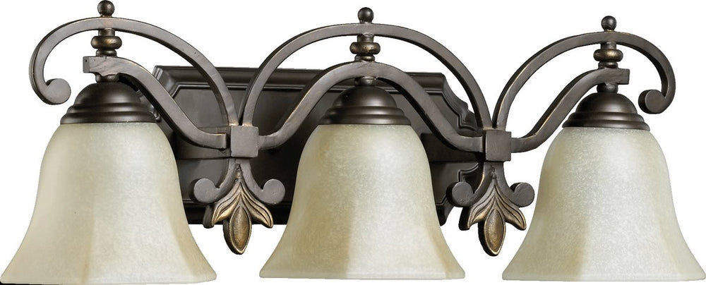"24""w Marcela 3-Light Vanity Oiled Bronze"