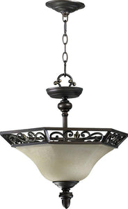 "16""W Marcela 3-Light Dual Mount Pendant/Semi-Flush Oiled Bronze"