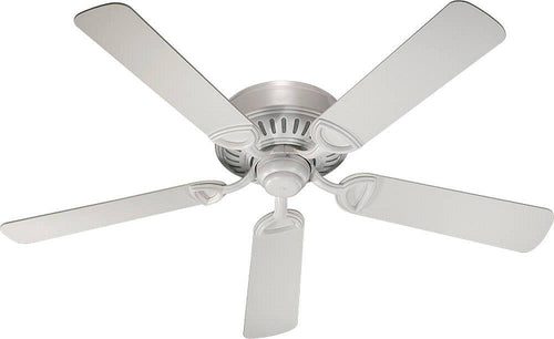 Quorum Medallion Hugger 52 5-Blade Ceiling Fan Studio White 515258