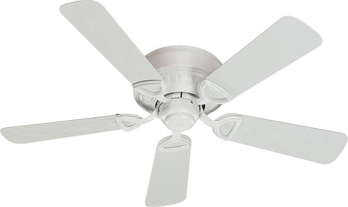 Quorum Medallion Patio Hugger Indoor/Outdoor 42 5-Blade Patio Ceiling Fan Studio White 1514258