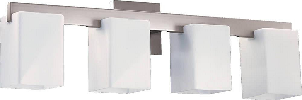 "28""W Modus 4-Light Bathroom Vanity Strip Satin Nickel"