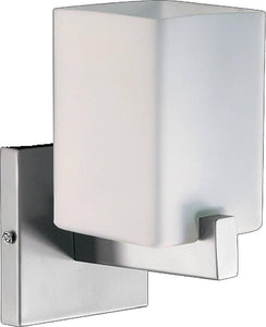 "5""w Modus 1-Light Wall Sconce Satin Nickel"
