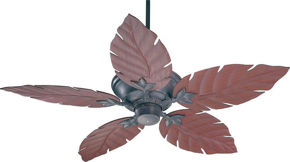 "52""W Monaco Patio Indoor/Outdoor 5-Blade Patio Ceiling Fan Toasted Sienna"