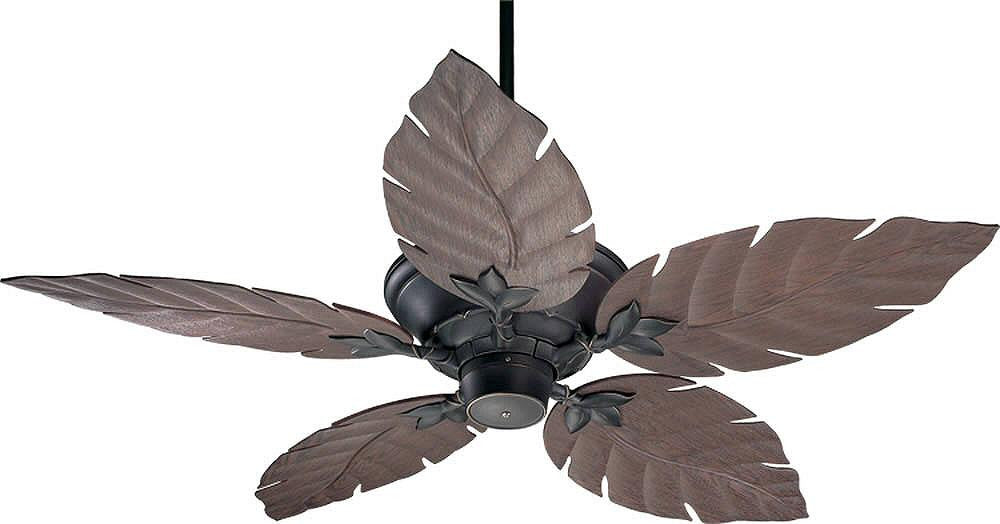 "52""W Monaco Patio Indoor/Outdoor 5-Blade Patio Ceiling Fan Old World"