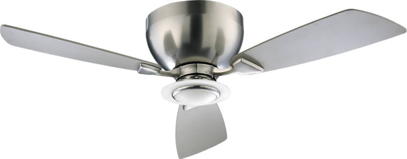 "44""W Nikko 1-Light Ceiling Fan Satin Nickel"
