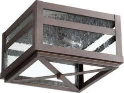 Quorum Clermont 2-Light Outdoor Ceiling Mount Oiled Bronze 372-13-86