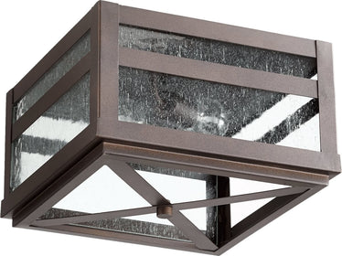 "13""W Clermont 2-Light Outdoor Ceiling Mount Oiled Bronze"