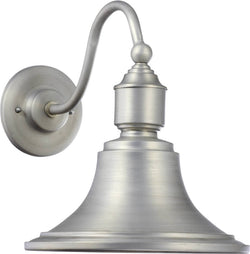 "14""h 1-Light Outdoor Wall Lantern Brushed Aluminum"