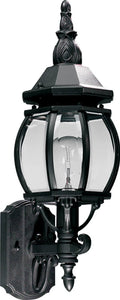 "20""h Croix 1-Light Outdoor Wall Lantern Black"
