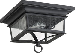 Quorum Pavilion 2-light Outdoor Flush Mount Noir