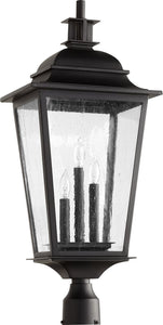 Quorum Pavilion 3-light Outdoor Post Lantern Noir