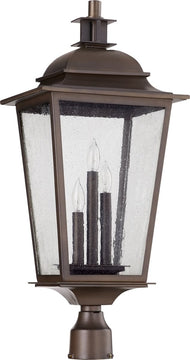 "28""H Pavilion 3-light Outdoor Post Lantern Oiled Bronze"