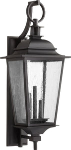Quorum Pavilion 3-light Outdoor Wall Lantern Noir