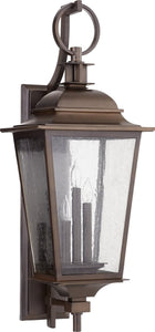Quorum Pavilion 3-light Outdoor Wall Lantern Oiled Bronze