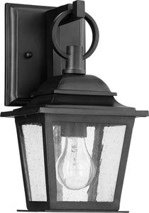 Quorum Pavilion 1-light Outdoor Wall Lantern Noir