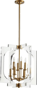 Quorum Broadway 8-Light Pendant Aged Brass 605-8-80