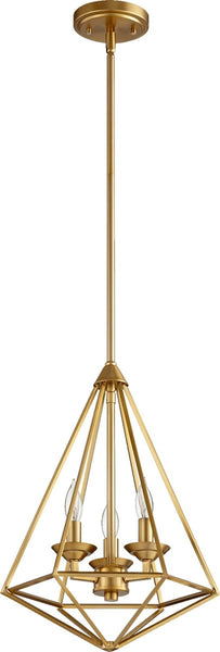 Quorum Bennett 3-Light Pendant Aged Brass 8311-3-80