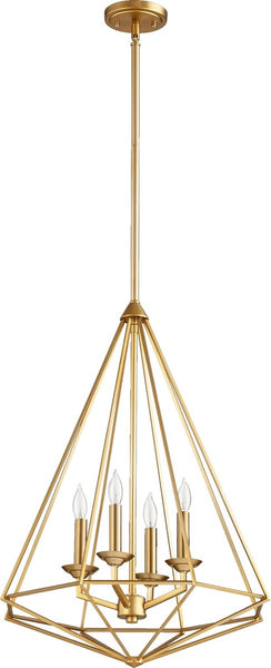 Bennett 4-Light Pendant Aged Brass