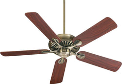 Quorum Pinnacle 52 5-Blade Ceiling Fan Antique Brass 915254