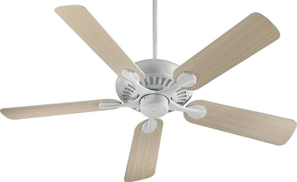 "52""W Pinnacle 5-Blade Ceiling Fan White"