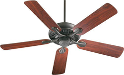 Quorum Pinnacle 52 5-Blade Ceiling Fan Old World 9152595