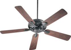 Quorum Pinnacle Patio Indoor/Outdoor 52 5-Blade Patio Ceiling Fan Old World 19152595