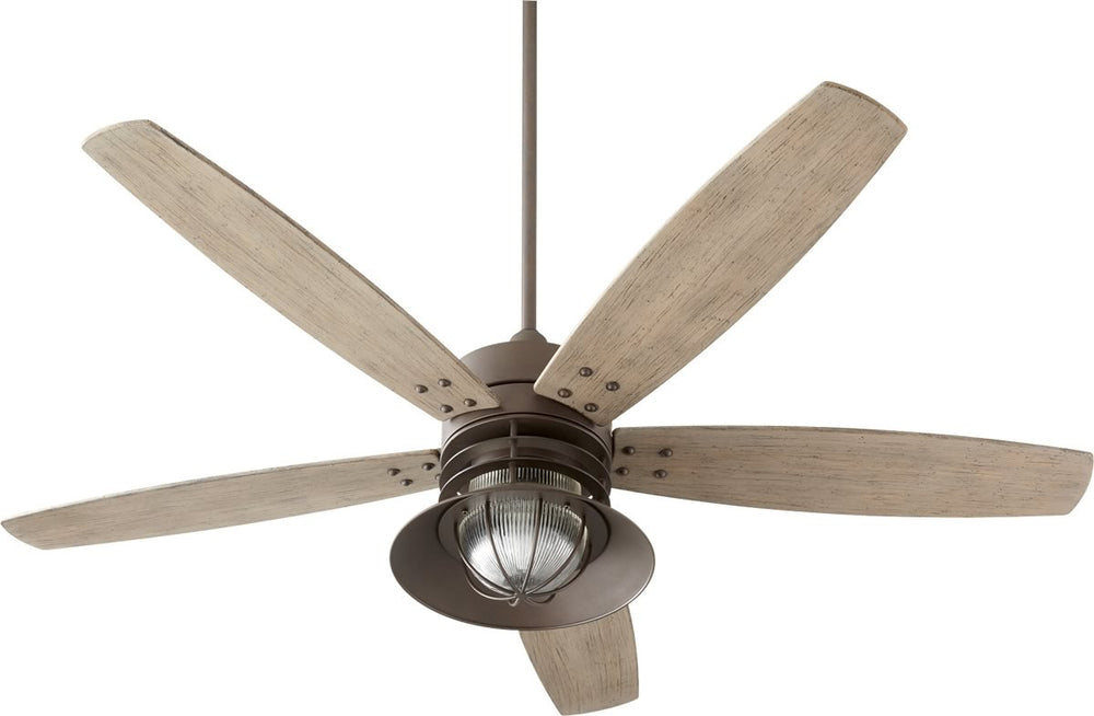 "60""W Portico 1-light Patio Ceiling Fan Oiled Bronze"