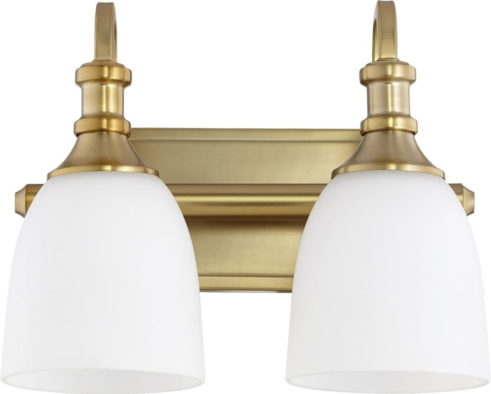 "13""W Richmond 2-light Bath Vanity Light Aged Brass"