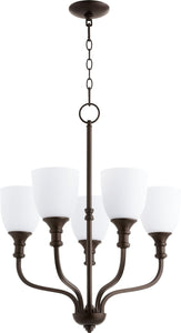 Quorum Richmond 5-light Chandelier Oiled Bronze
