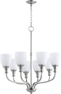 Quorum Richmond 8-light Chandelier Satin Nickel