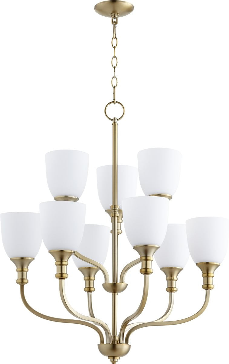 "26""W Richmond 9-light Chandelier Aged Brass"