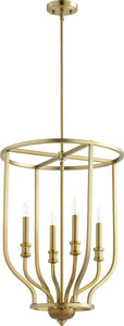Quorum Richmond 4-light Entry Foyer Hall Chandelier Aged Brass