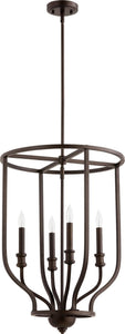 Quorum Richmond 4-light Entry Foyer Hall Chandelier Oiled Bronze