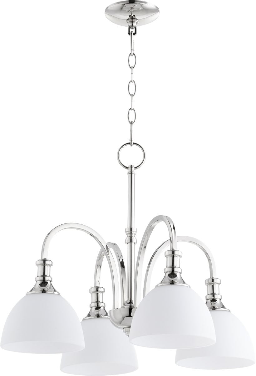 "23""W Richmond 4-light Nook Chandelier Polished Nickel"
