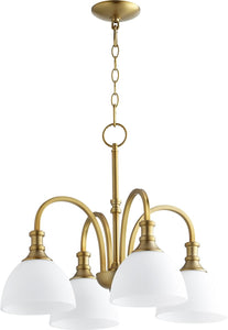 Quorum Richmond 4-light Nook Chandelier Aged Brass