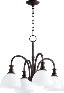 Quorum Richmond 4-light Nook Chandelier Oiled Bronze