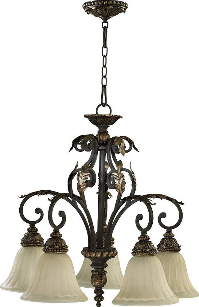 "28""W Rio Salado 5-Light Chandelier Toasted Sienna/Mystic Silver"