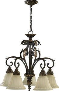 Quorum Rio Salado 5-Light Chandelier Toasted Sienna/Mystic Silver 6457544