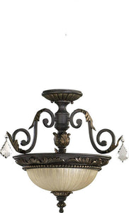 Quorum Rio Salado 2-Light Dual Mount Pendant/Semi-Flush Toasted Sienna/Mystic Silver 29571744