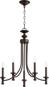 Rossington 5-light Chandelier Oiled Bronze