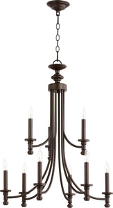 Quorum Rossington 9-light Chandelier Oiled Bronze