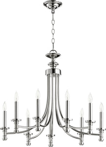 Quorum Rossington 9-light Chandelier Polished Nickel