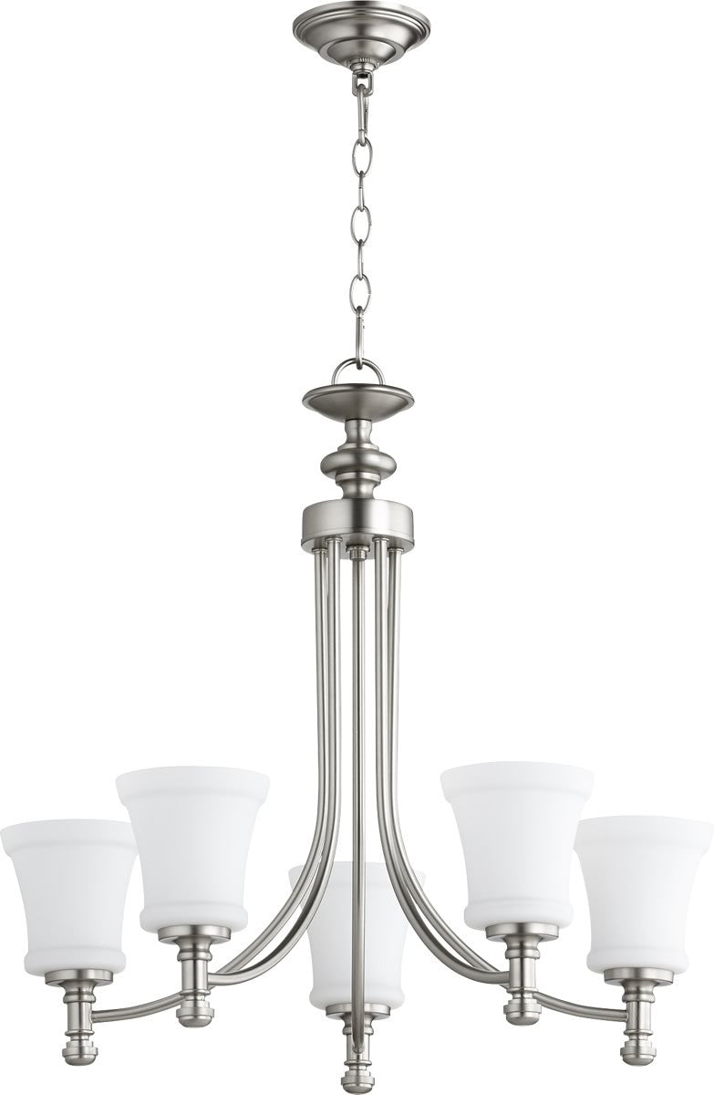 "25""W Rossington 5-light Chandelier Satin Nickel"