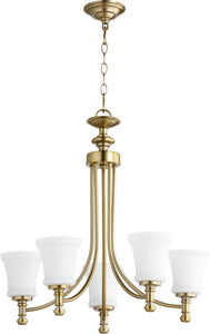 Quorum Rossington 5-light Chandelier Aged Brass