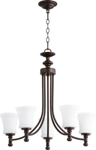 Quorum Rossington 5-light Chandelier Oiled Bronze