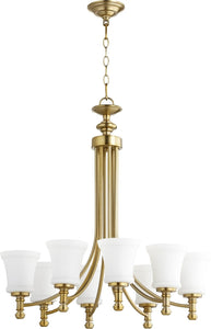 Quorum Rossington 8-light Chandelier Aged Brass