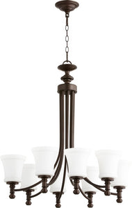 Quorum Rossington 8-light Chandelier Oiled Bronze